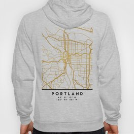 PORTLAND OREGON CITY STREET MAP ART Hoody