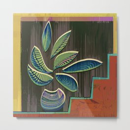 I Think More is More #Plant #Glitch-Art Metal Print