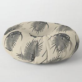 Trilobite Fossils Floor Pillow
