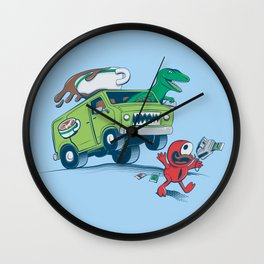 DinoLatte Run Down Wall Clock