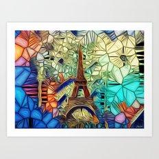 Paris abstract Art Print