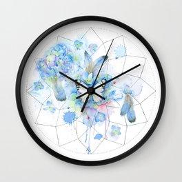 Dreamcatcher No. 1 - Butterfly Illustration Wall Clock