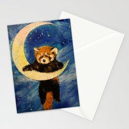 Red Panda Stars Stationery Cards
