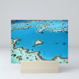 AERIAL PHOTOGRAPHY OF SEAWATER Mini Art Print