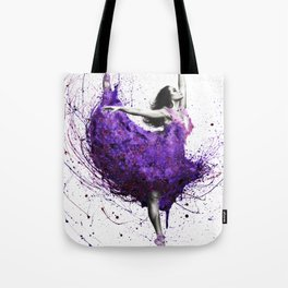 Purple Rains Ballet Tote Bag