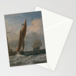Willem van de Velde the Younger - Fishing Boats at Sea Stationery Cards