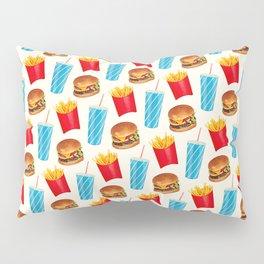 Combo Meal Pattern 2 - White Pillow Sham