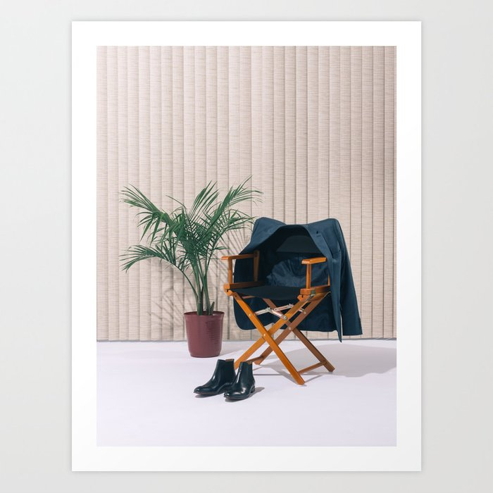 Director's Chair with Palm Art Print