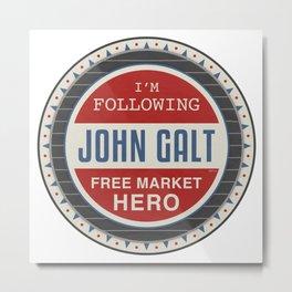 Free Market Hero Metal Print