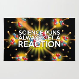Science Puns Always Get a Reaction Rug