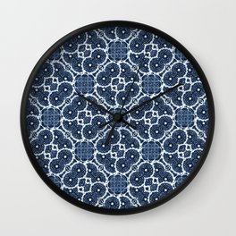Blue Spinners Wall Clock