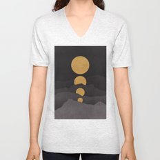 Rise of the golden moon Unisex V-Neck