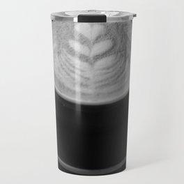 Cafe Heart - Black and White Travel Mug