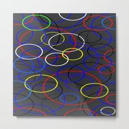 Circle on Circles Metal Print