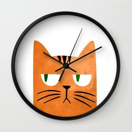 Orange cat with attitude Wall Clock