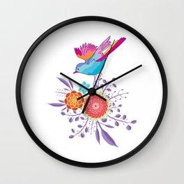 Happy Spring Bird Wall Clock