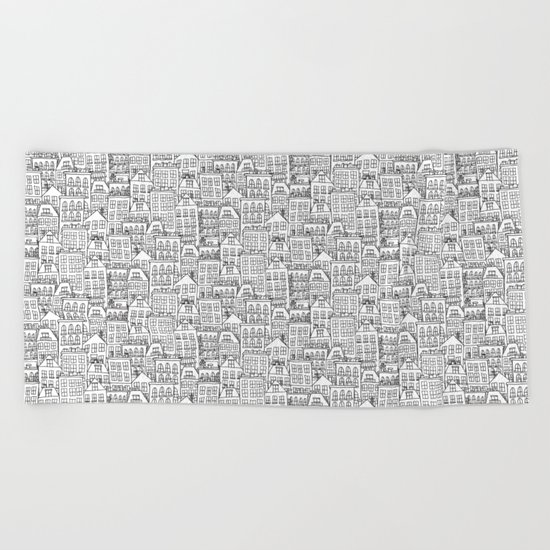 urban winter Beach Towel