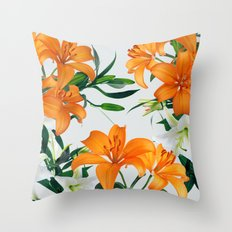 Glorious Lilies Throw Pillow