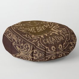 D20 Home Brew Content Creator Aged Label Floor Pillow