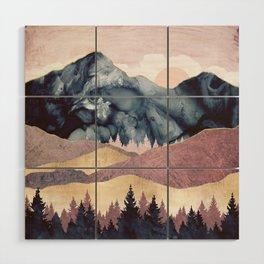 Mauve Vista Wood Wall Art