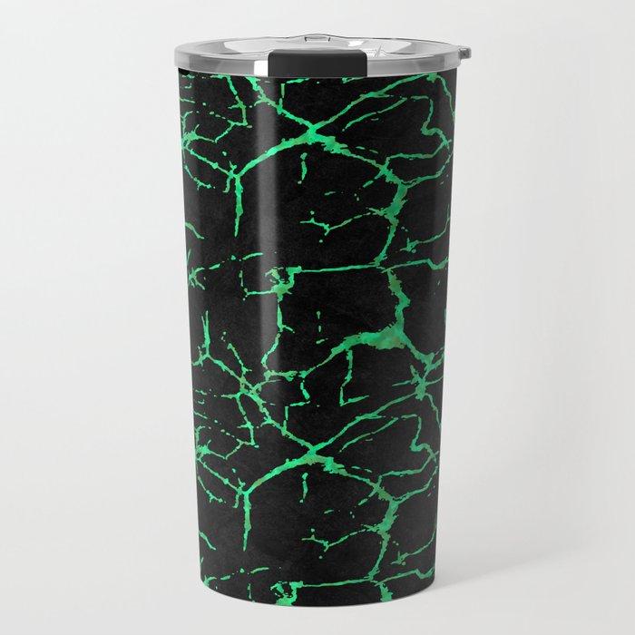 Green alexandrite gemstone wall Travel Mug