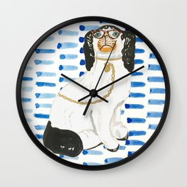 BESPECTACLED on BLUE Wall Clock