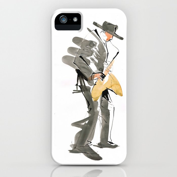 Musician Jazz Saxophone iPhone Case