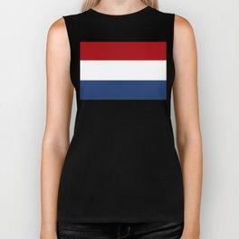 The Netherlands Flag / The Dutch Flag Biker Tank