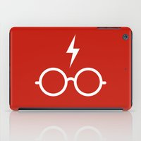 harry potter iPad Cases featuring Harry Potter Minimal by cat&wolf