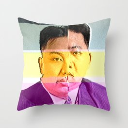 kim jong un Throw Pillow