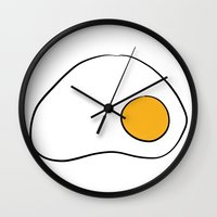 egg Wall Clocks featuring Egg by Alexandre Reis