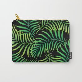 Night Jungle. Tropical Pattern / Palm leaves Carry-All Pouch