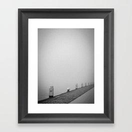 Walking in the mist..... Framed Art Print