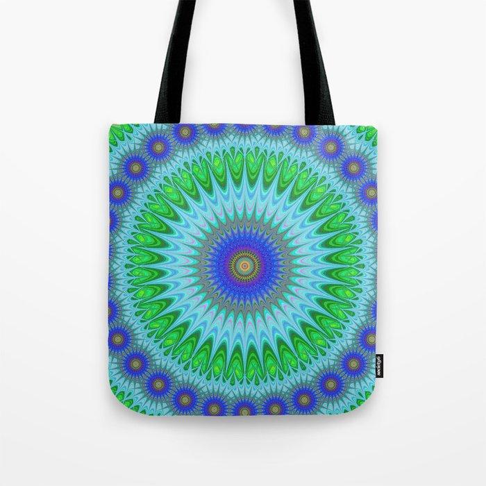 Happy star mandala Tote Bag