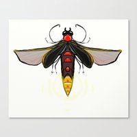 firefly Canvas Prints featuring Firefly by Conrad