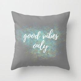 Good Vibes - Blue Yellow Throw Pillow