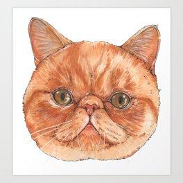 Betty aka The Snappy Cat- artist Ellie Hoult Art Print