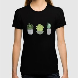 Watercolor Succulent Plants T-shirt
