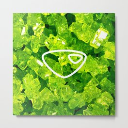 Peridot Candy Gem Metal Print