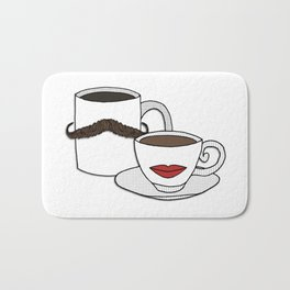 The Caffeinated Couple Bath Mat