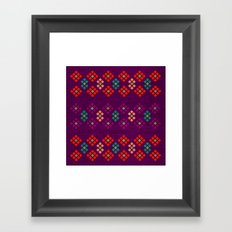 Geo Flowers Framed Art Print