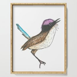 PURPLE CROWNED FAIRY WREN Serving Tray