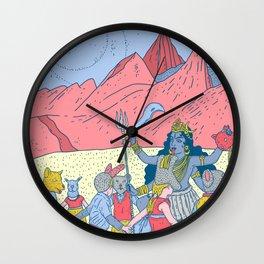 Kali dance Wall Clock