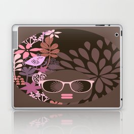 Afro Diva : Sophisticated Lady Pink Taupe Lavender Laptop & iPad Skin