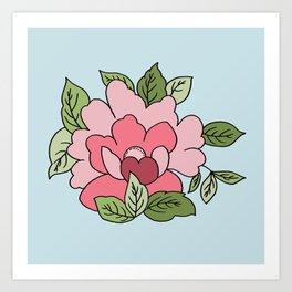Antique Flower Art Print