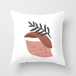 Bara - Leaves composition Throw Pillow
