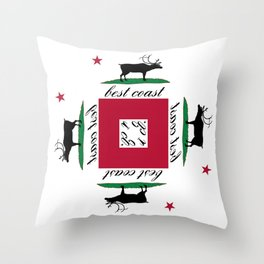 Best Coast By Avte Clothing. Throw Pillow