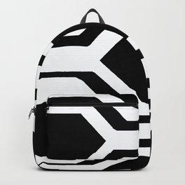 Black and White Geometric Backpack