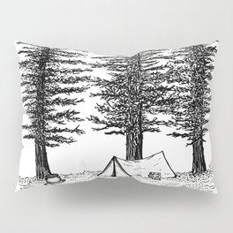Camping in the woods Pillow Sham