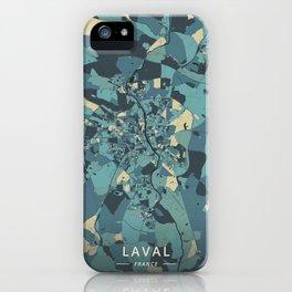 Laval, France - Cream Blue iPhone Case